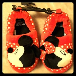 Disney Minnie Mouse And Mickey Slippers